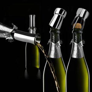 Champagner Set von Vagnbys mit AusgießerSektverschluss und Sektöffner