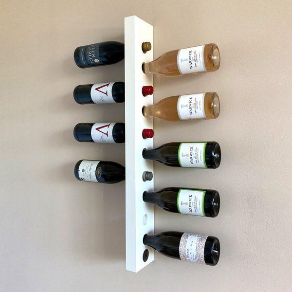 Wand - Weinregal Hanglage Mini in weiß aus Holz